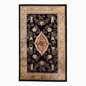 Handgeknüpfter Chinesischer Vintage Seiden Teppich, 1980er