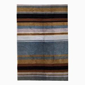 Vintage Handmade Indian Modern Rug, 1980s