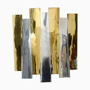 Applique in ottone di Henri Perrichaud, anni '60