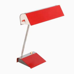 Vintage Red Table Lamp by Josef Hurka, 1960s