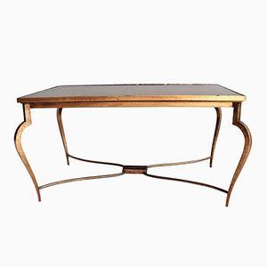 Tavolino da caffè specchiato di René Prou, anni '40