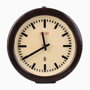 Horloge Industrielle GW eG5 de Gerätewerk Leipzig, 1960s