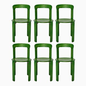Green Dining Chairs by Bruno Rey for Kusch & Co, 1970s, Set of 6