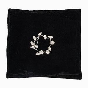 Louvre Black Square Pillow by Jackie Villevoye for Jupe by Jackie