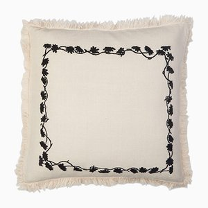 Louvre White Square Pillow by Jackie Villevoye for Jupe by Jackie