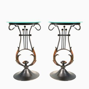Lyre Side Tables by Mark Brazier-Jones, Set of 2
