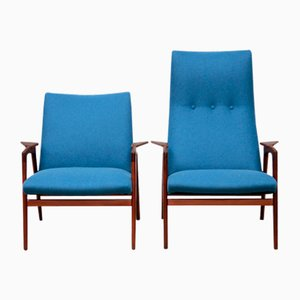 Vintage Ruster Lounge Chairs by Yngve Ekström for Pastoe, 1960s, Set of 2