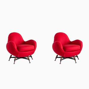 Vintage Mercury Lounge Chairs by Rito Valla for IPE Bologna, Set of 2