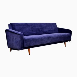 Navy Blue Sofa Bed, 1960s