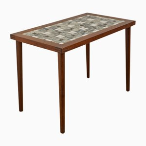 Mid-Century Danish Rosewood Side Table with a Tiled Top, 1960s