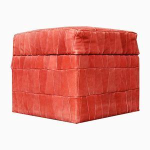 Pouf Mid-Century in camoscio patchwork rosa di de Sede