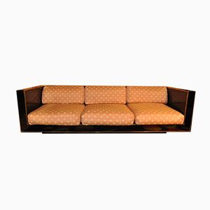 Sofa in Black ABS and Brass from Claude Dalle, 1970s