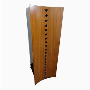 Curato Walnuss Furnier Kleiderschrank von Giovanni Carini für Poltronova, 1970er