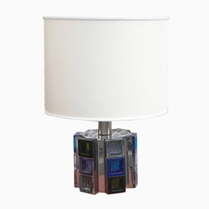 Table Lamp with Colored Cubes from Poliarte, 1970s