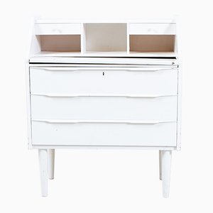 White Danish Secretaire Desk, 1960s