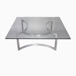Chromed Steel and Thick Glass Coffee Table from Dassas, 1963