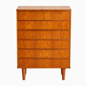 Danish Oak Chest of Drawers, 1950s