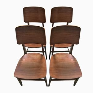Chairs by Børge Morgensen for Søborg Møbelfabrik, 1950s, Set of 4