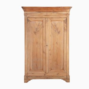 Antique Sanded French Louis Philippe Armoire