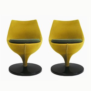Vintage Modernist Polaris Chairs by Pierre Guariche for Meurop, Set of 2