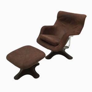 Lounge Chair and Ottoman by Yrjo Kukkapuro for Haimi, 1965
