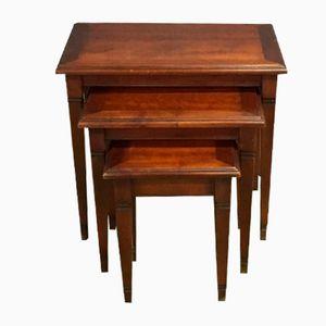 Tavolini a incastro vintage in ciliegio
