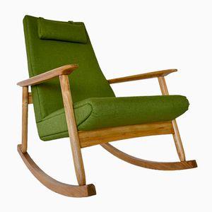 Vintage Ąžuolas Rocking Chair by Valerija Ema Cukermanienė for Vilniaus Baldų Kombinatas