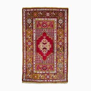 Vintage Turkish Wool Double Niche Prayer Rug, 1960s