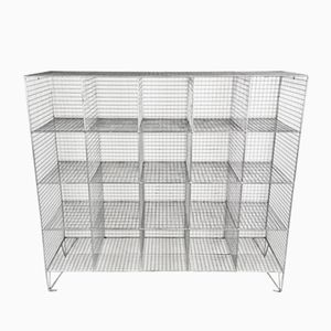 Vintage Wire Mesh Shoe Locker Unit