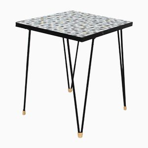 Vintage Dutch Side Table with Tiled Top, 1970s