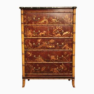 19th-Century French Chinoiserie Chest of Drawers