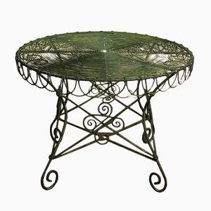Tavolo da giardino in cavo metallico, inizio XX secolo