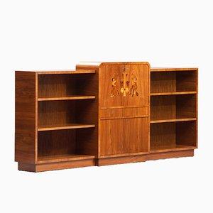 Vintage Bookshelf with Bar from Garsnas Mobler