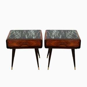Mid-Century Italian Night Tables in Rosewood by Vittorio Dassi, Set of 2