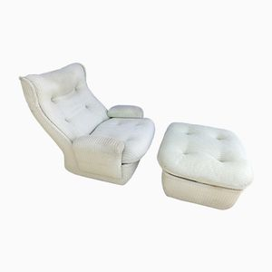 Orchidée Lounge Chair & Ottoman by Michel Cadestin for Airborne, 1970s