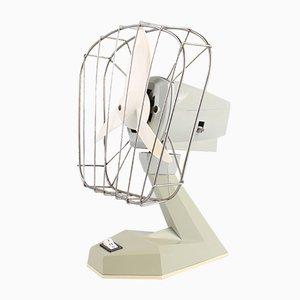Ostdeutscher Vintage Ventilator aus Kunststoff in Grau