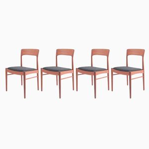 Dänische Mid-Century Esszimmer Stühle von Korup Stolefabrik, 4er Set