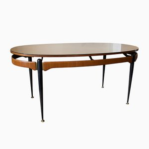 Italian Dining Table with Sunburst Top, 1950s