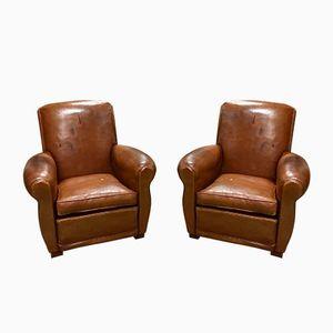 Club chair vintage, set di 2