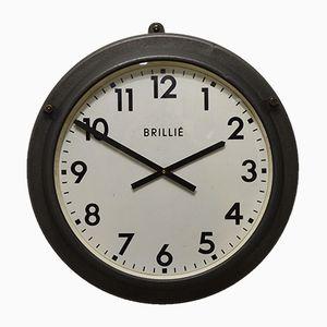 Vintage Industrial Clock from Brillié