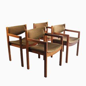 Dänische Esszimmer Stühle, 1970er, 4er Set