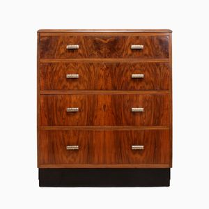 Art Deco Chest of Drawers in Walnut
