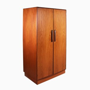 Mid-Century Fresco Double Gentlemans Teak Wardrobe by Victor Wilkins for G-Plan, 1970s