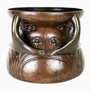 Large Copper and Brass Plant Pot, 1906