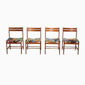 Anakreon Teak Esszimmerstühle von Josef Frank, 1960er, 4er Set
