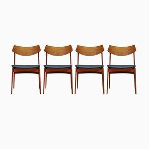 Vintage Teak Chairs from Funder-Schmidt & Madsen, Set of 4