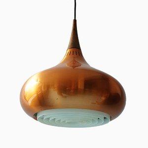 Lampada a sospensione grande Orient in rame e palissandro di Jo Hammerborg per Fog & Mørup