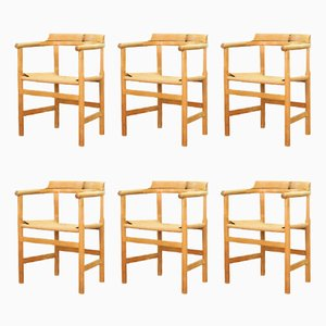 Vintage PP-62 Armchairs by Hans J. Wegner for PP Møbler, Set of 6