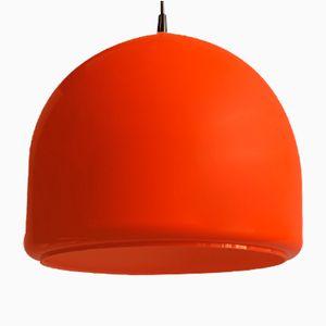 Vintage Orange Opaline Pendant Lamp