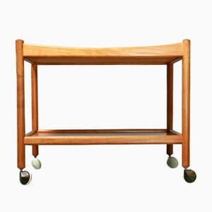 Mid-Century Danish Teak Trolley by Hans Wegner for Andreas Tuck